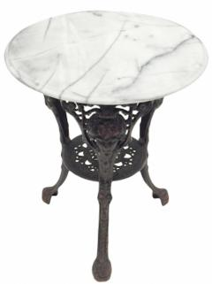 Cast Iron and Marble Ocassional Tables - 1756303