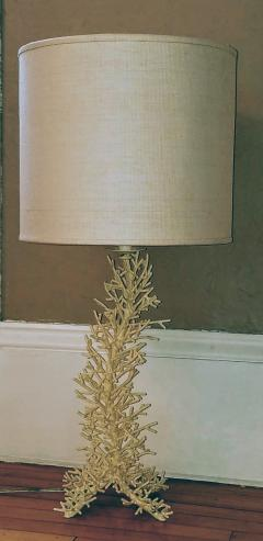 Cast Porcupine Coral Table Lamp 1970s - 1830825