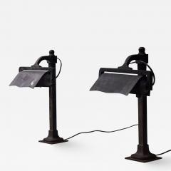 Castiron pre war industrial desk lamps 1900s - 1953264