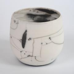 Catherine Bonte Navarrot PAIR OF RAKU CHAWANS TEA CUPS  - 2100077