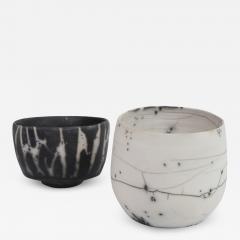 Catherine Bonte Navarrot PAIR OF RAKU CHAWANS TEA CUPS  - 2100968