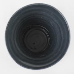 Catherine Bonte Navarrot SET OF 2 BLACK GLAZED CERAMIC VASES - 2100085