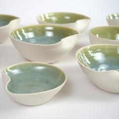 Catherine Bonte Navarrot SET OF 9 GLAZED PORCELAIN CUPS - 2100048