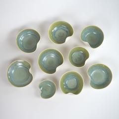 Catherine Bonte Navarrot SET OF 9 GLAZED PORCELAIN CUPS - 2100050