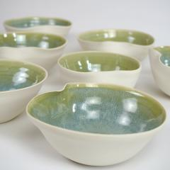 Catherine Bonte Navarrot SET OF 9 GLAZED PORCELAIN CUPS - 2100051