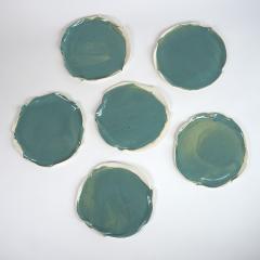 Catherine Bonte Navarrot SET OF 9 GLAZED PORCELAIN PLATES - 2100054