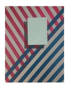 Cecilia Setterdahl Love Stripes Acrylic on Canvas - 1847928