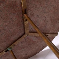 Cedric Hartman Classic side table from Cedric Hartman red granite top - 2073175