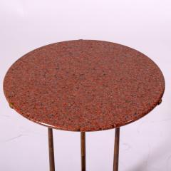 Cedric Hartman Classic side table from Cedric Hartman red granite top - 2073177