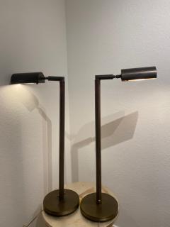 Cedric Hartman MODERNIST PAIR OF TELESCOPING BRASS FLOOR LAMPS IN THE MANNER OF CEDRIC HARTMAN - 1684676