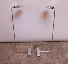 Cedric Hartman Pair of Chrome Adjustable Floor Lamps by Cedric Hartman - 1247245