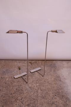 Cedric Hartman Pair of Chrome Adjustable Floor Lamps by Cedric Hartman - 1247248