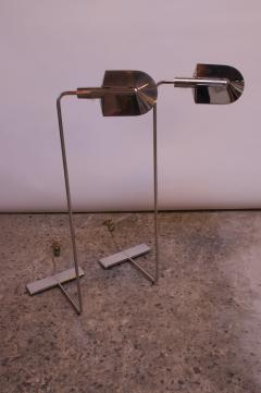 Cedric Hartman Pair of Chrome Adjustable Floor Lamps by Cedric Hartman - 1247249