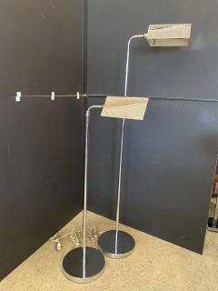 Cedric Hartman Pair of Polished Chrome Adjustable Pharmacy Floor Lamps Cedric Hartman - 1910186