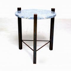 Cedric Hartman Petite Side Table Luscious Blue Granite Bronze 1970s Modern Cedric Hartman - 1773324