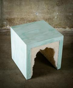 Cement Stool Side Table - 384094