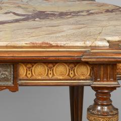 Center Table with Marble Top Attributed to Pottier and Stymus New York - 57595