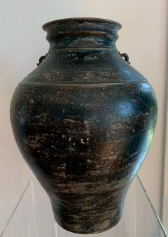 Ceramic Jar with Black Glaze Khmer Angkor Period - 1097123