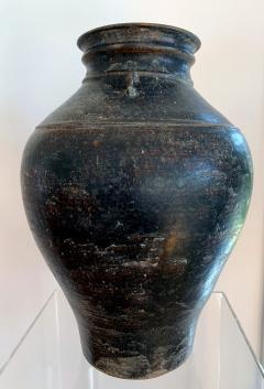 Ceramic Jar with Black Glaze Khmer Angkor Period - 1097124