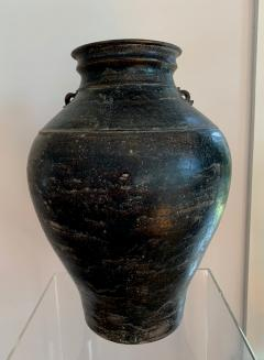 Ceramic Jar with Black Glaze Khmer Angkor Period - 1097125