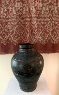 Ceramic Jar with Black Glaze Khmer Angkor Period - 1097131