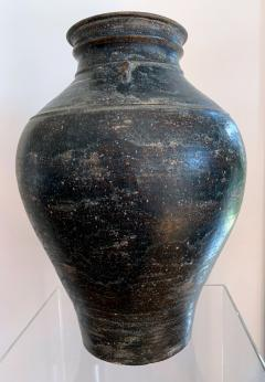 Ceramic Jar with Black Glaze Khmer Angkor Period - 1097139