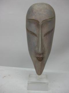 Ceramic Silver Glazed Mask - 37881