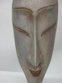 Ceramic Silver Glazed Mask - 37882