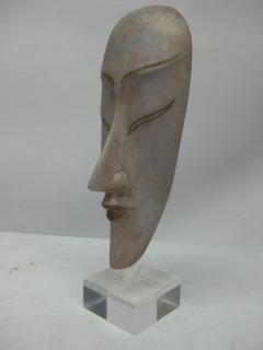Ceramic Silver Glazed Mask - 37884