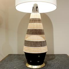 Ceramic Table Lamp With Sgraffito Design 1950s - 238272