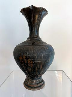 Ceramic Vase with Black Glaze Khmer Angkor Period - 1097148