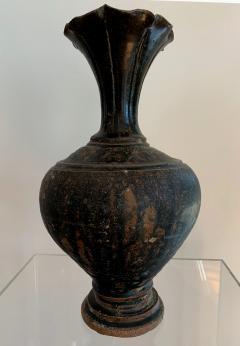 Ceramic Vase with Black Glaze Khmer Angkor Period - 1097149