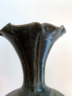 Ceramic Vase with Black Glaze Khmer Angkor Period - 1097152