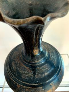 Ceramic Vase with Black Glaze Khmer Angkor Period - 1097153