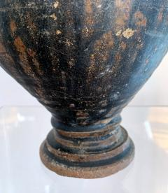 Ceramic Vase with Black Glaze Khmer Angkor Period - 1097158