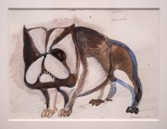 Cerb res watercolour and gouache by Henri Samouilov - 1978997