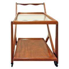 Cesare Lacca Cesare Lacca Elegant Rolling Cart with Glass Top 1970s - 336495