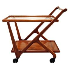 Cesare Lacca Cesare Lacca Elegant Rolling Cart with Glass Top 1970s - 336496