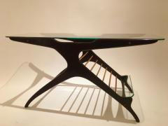 Cesare Lacca Cesare Lacca Glass Coffee Table in Mahogany and Maple Italy circa 1950 - 1401373