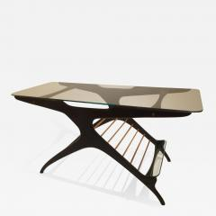 Cesare Lacca Cesare Lacca Glass Coffee Table in Mahogany and Maple Italy circa 1950 - 1405515