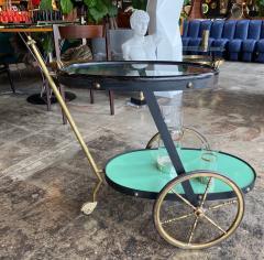 Cesare Lacca Cesare Lacca Rare Oval Bar Cart Italy 1955 - 1191517
