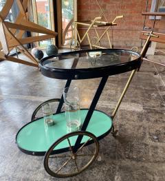 Cesare Lacca Cesare Lacca Rare Oval Bar Cart Italy 1955 - 1191518