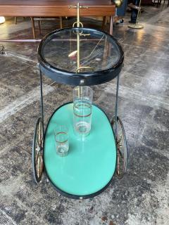 Cesare Lacca Cesare Lacca Rare Oval Bar Cart Italy 1955 - 1191520