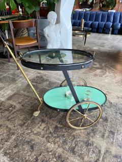 Cesare Lacca Cesare Lacca Rare Oval Bar Cart Italy 1955 - 1191521