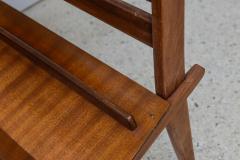 Cesare Lacca Italian Modern Walnut Rolling Adjustable Book Shelf Cesare Lacca - 364250