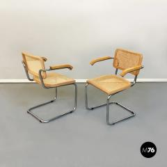 Chairs with armrests in Cesca Style 1970s - 1936004