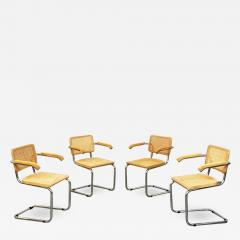 Chairs with armrests in Cesca Style 1970s - 1937539
