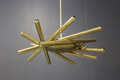 Chandelier in style Mid Century in Brass with spokes 2020s - 1517021