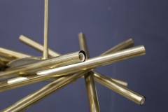 Chandelier in style Mid Century in Brass with spokes 2020s - 1517023