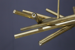 Chandelier in style Mid Century in Brass with spokes 2020s - 1517024